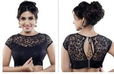 43 Latest Boat Neck Blouse Designs To Try in Boat neck blouse designs are gaining popularity as they come with modern and elegant touch. A saree blouse is an essential part of the traditional Indian wear for women. That is why breaking the mo… Black Blouse Designs, Netted Blouse Designs, Saree Blouse Neck Designs, Kurta Neck Design, Net Blouses, Stylish Blouse Design, Designer Blouse Patterns, Blouse Models, Herren T Shirt
