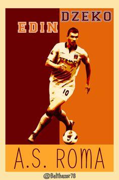 Edin Dzeko A.S. Roma - Welcome by Belthazor78.deviantart.com on @DeviantArt