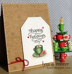 Lawn Fawn - Love You a Latte _ Holiday Coffee Blog Hop _ super cute card design by Lysa!