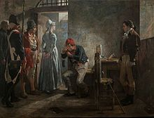 Charlotte Corday - Charlotte Corday being conducted to her execution. By Arturo Michelena, 1889 - Wikipedia, the free encyclopedia