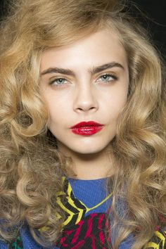 Cara Delevingne backstage at Marc by Marc Jacobs, Fall 2013