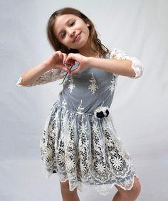 Navy Grace Lace Dress - Toddler & Girls by A.BIRD #zulily #zulilyfinds