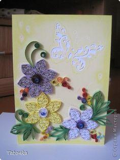 Открытка Квиллинг: Летняя открытка Бумага День рождения. Фото 1