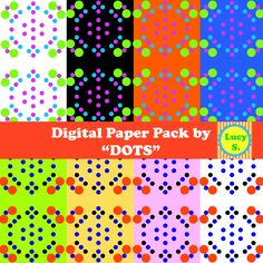 """""""DOTS"""" digital paper -  Commercial Use OK"""
