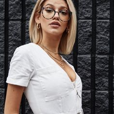 Glasses Frame With Clear Lens For Women blue light blocking glasses near me eyeglass lenses optical store reading glasses Womens Glasses Frames, Cute Glasses Frames, Eyeglass Lenses, Blond, Girls With Glasses, Muse, Look Fashion, Eyeglasses, Short Hair Styles