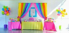 Love everything about this rainbow first birthday party especially the bright be. Love everything about this rainbow first birthday party especially the bright beautiful colors. My Little Pony Party, Fiesta Little Pony, Little Pony Birthday Party, Birthday Party Desserts, 4th Birthday Parties, Birthday Fun, Birthday Ideas, Rainbow First Birthday, Candy Theme