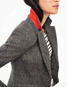 British Tweed Blazer WE501 Jackets at Boden