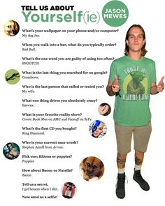 Tell Us About Yourself(ie): JasonMewes