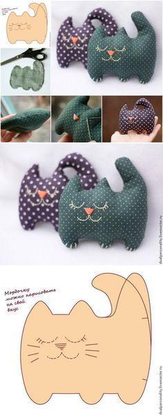 donneinpink magazine: 15 Gatti di stoffa cucito creativo Tutorial e cartamodelli