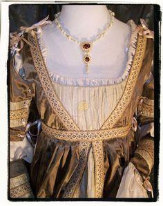 Italian Gown: Open Neck shape.