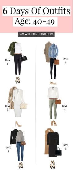 6 Days Of Outfits - Age 40's