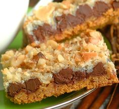 7 Layer Bars are an easy standby that is loved by all. They are so rich that a very small treat will make you satisfied!