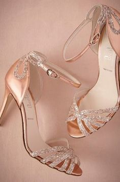Rose Gold Glittered Heels for that night out with the special someone!