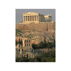 Acropolis and Parthenon, Athens Photographic Wall Art Print (2.320 RUB) ❤ liked on Polyvore featuring home, home decor, wall art, backgrounds, wall-cover, photography wall art, interior wall decor, photographic wall art and wall posters