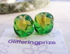 Lampwork Beads Glass Lemond and Lime Two by GlitteringprizeGlass