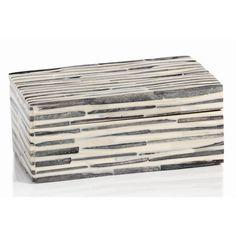 17 Stories Long Dyed Bone Wood Decorative Box | Wayfair