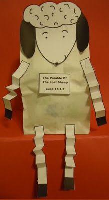 Parábola de la oveja perdida -  - títeres de oveja - actuar la historia con las ovejas y un pastor