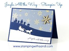 Stampin Up Jingle All the Way, card by Sandi @ www.stampingwithsandi.com
