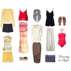 """""""15-Piece Cruising in Style Travel Wardrobe"""" by angelarcher5 on Polyvore"""