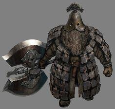 Dark Souls 2 Concept Art, Dwarf Armor