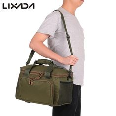 Made of canvas , it is long lasting and durable to use. It can store fishing reels, fishing lures, fishing mini rods, or fishing tackle case and other compati Fishing Pliers, Fishing Tools, Bass Tackle, Tactical Bag, Tactical Survival, Fishing Tackle Bags, Fish In A Bag, Fishing Accessories, Cheap Bags
