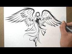 Картинки по запросу как нарисовать крылья ангела поэтапно