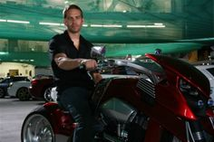 "The late Paul Walker on the set of Fast and Furious 4. Steve Leach's bike ""Beond"" or The Transformer is based on a Harley V-Rod engine. Read the full story: http://motorbikewriter.com/radical-harley-v-rod-movie-star/ Photos by David Cohen (www.ultragraphics.com)"