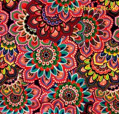 HIGH QUALITY Printed Nylon Spandex Lycra Stretch Knit Fabric  Brand new  Retails for $24.99 a yard  Big bold artsy floral print This fabric is a top