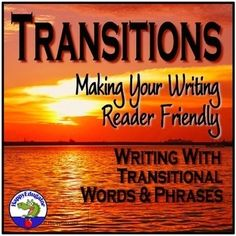 Transition Words and Phrases by HappyEdugator Easel Activities, Sorting Activities, Transitional Phrases, Transition Words And Phrases, Classroom Resources, Teaching Resources, Teaching Ideas, Teaching Strategies, Teaching Writing