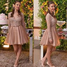 Beaded Blush V Neck Short Prom Pageant Celebrity Formal Party Cocktail Dress NEW