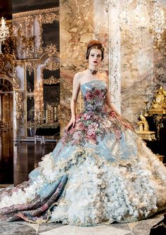 definitely for the ball. flower ball gown. haute couture.