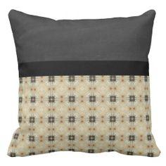 Beautiful Retro Black Pattern Throw Pillow