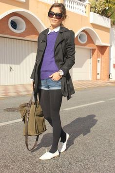 Fall Outfits, Fashion Outfits, Fashion Clothes, Womens Fashion, Fashion Ideas, White Shoes, Black Sweaters, Trench, Apparel Clothing