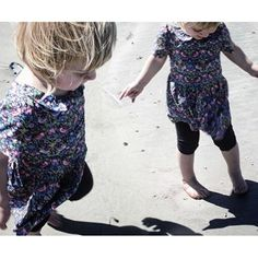 My little girl in a dress that I made for her from a #libertyoflondonfabric…