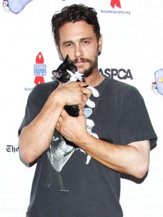 James Franco & A Kitten