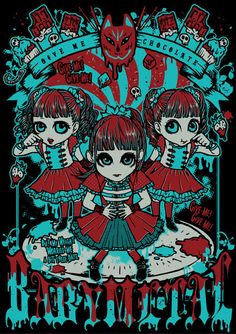 Title:BABYMETALギミチョコ!! TシャツClient:BABYMETALhttp://www.babymetal.jp/Designed by KiSS OF DEATH.