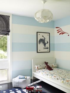 This would only work with blues like this, but with some red accent colors, it could totally look rustic nautical. Small Boys Bedrooms, Girls Bedroom, Kids Rooms, Bedroom Ideas, Boys Nautical Bedroom, Wall Colors, Accent Colors, Leather Pouf, Heart For Kids