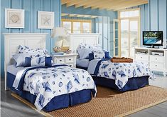 Shop for a Belmar White 4 Pc Twin Guest Bedroom at Rooms To Go. Find Bedroom Sets that will look great in your home and complement the rest of your furniture.