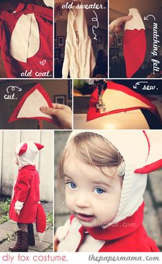 With Halloween fast approaching, it`s time to start thinking about costumes. Making your own Halloween costume is fun, but it can be time/money/nerves Fox Halloween Costume, Fox Costume, Fete Halloween, Last Minute Halloween Costumes, Sewing For Kids, Diy For Kids, Fancy Dress, Dress Up, Diy Costumes