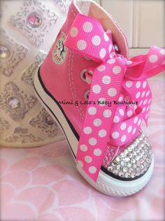 jazz up some converse sneakers for baby or young girl gift