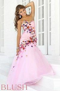 Pink prom dress #5136 unique!!
