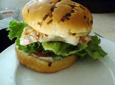 """""""Chicken With Lemon Basil Mayo Burger - By: Decentra"""