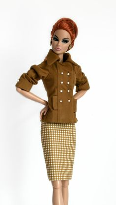 Tan Suit For Barbie and Fashion Royalty Dolls by ChicBarbieDesigns