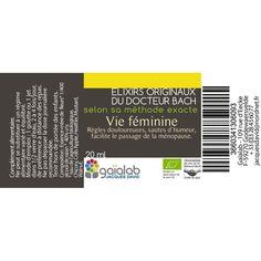 Elixir composé Fleurs de Bach Vie Féminine http://www.saniplante.fr/lang/483-elixir-compose-vie-feminine-20-ml.html