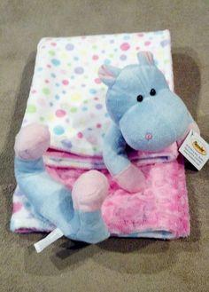 Minkee Minky Baby Animal Hippo Fuzzy by ShandisScrapsnStuff