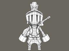 (WIP) - - Cartoon Knight - Polycount Forum