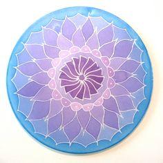Lotus flower Silk Mandala 10 Ø silk painting for Blossom Flower, Lotus Flower, Yoga Tools, Seed Of Life, Mandala Coloring, Silk Painting, Painting Patterns, Painting Techniques, Shades Of Blue