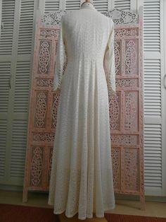 Art Deco Wedding Dress Vintage Unique long by TimelessGiftsandMore