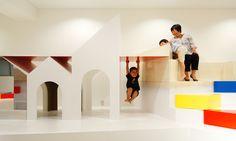 PIXY HALL / http://www.moriyukiochiai.com/architecture/pixy_hall/ #kindergarten #playground