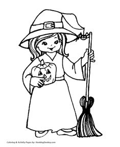 Witch Coloring Page #5 | Halloween coloring, Free printable and ...